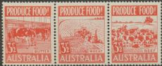 SG 258a ACSC 290e., 292d. Produce Food - 3½d Food strip (AE1/44)